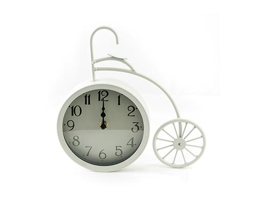 Часы настольные «Велосипед белый большой»