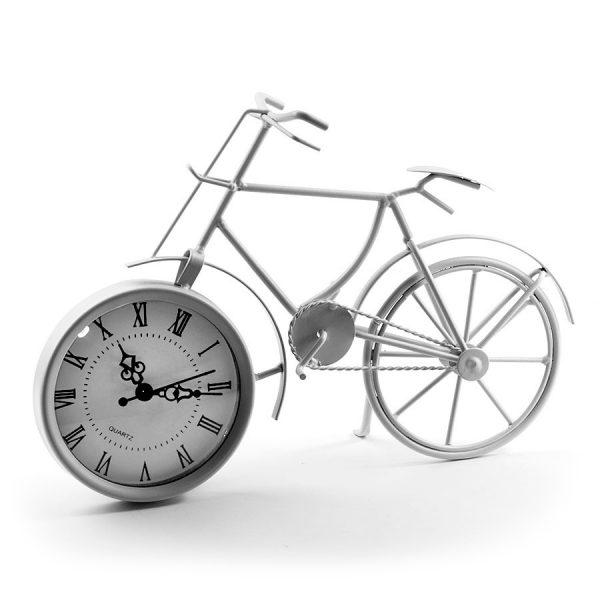 """ML-5388 White Часы настольные """"Велосипед белый"""""""