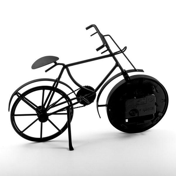 "ML-5388 Dark black Часы настольные ""Велосипед чёрный"""