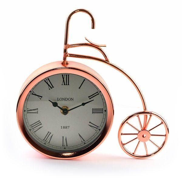 """ML-5379 Copper Часы настольные """"Велосипед медный большой"""""""