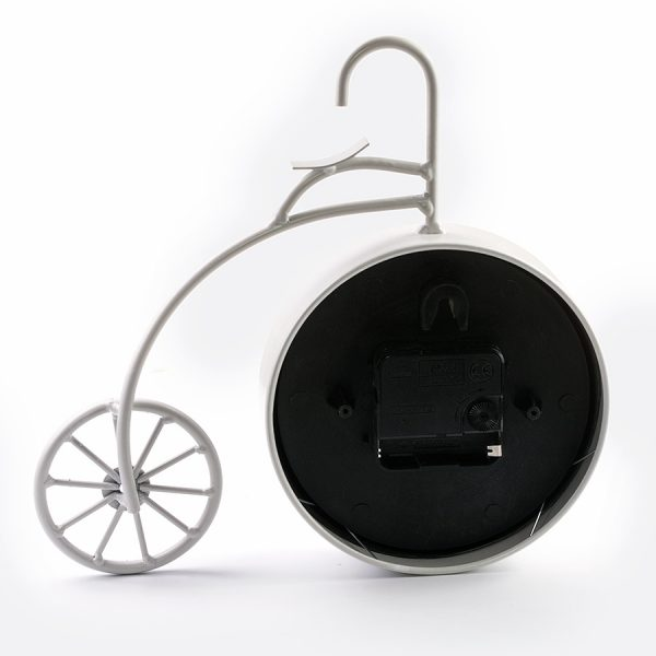 "ML-5379 White Часы настольные ""Велосипед белый большой"""