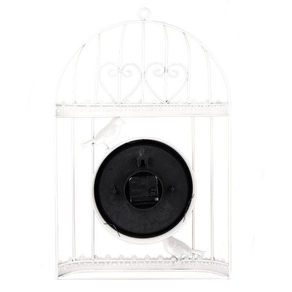 """ML-1481 White Часы настенные """"Клетка"""""""