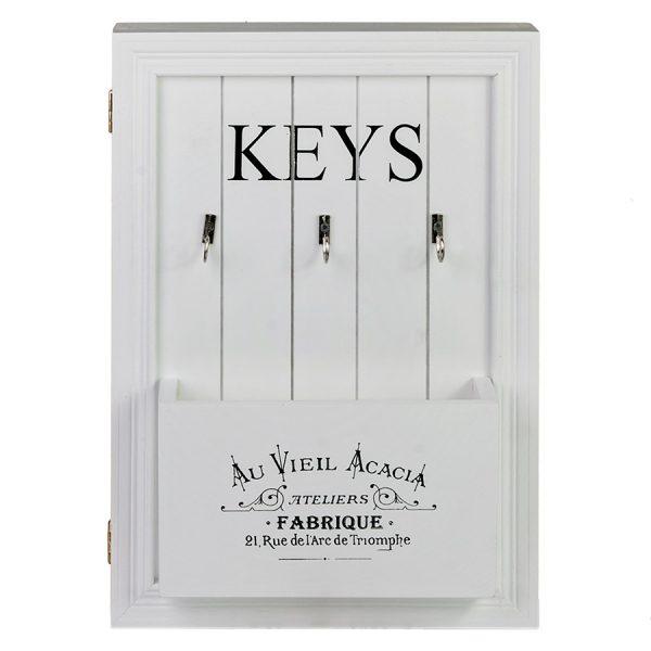 ML-4736 Ключница белая с дверцей и карманом