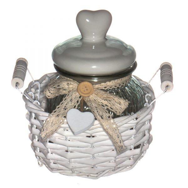 LB16-03/1 Ёмкость для сыпучих и жидких продуктов в корзине