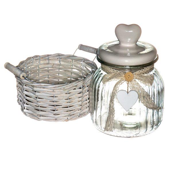 LB16-02/1 Ёмкость для сыпучих и жидких продуктов в корзине