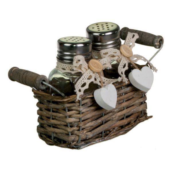 Набор LB16-18/2 для специй из 2-х предметов в корзине, cruet set